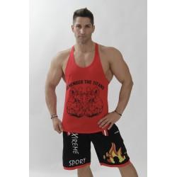 8e5c4a4a573c7 Camisetas Gym Hombre Tirantes Bunker Titans Rojo